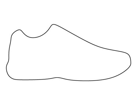 shoe template shoe outline gallery