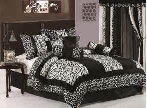 7 piece king size zebra comforter set safari bedding