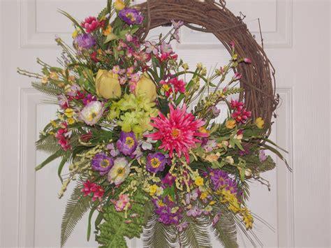 summer door wreaths summer door or wall wreath with flowers of purple