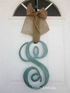 single letter monogram wooden door decor 18 by With wooden door letters