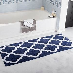 lavish home 100 cotton trellis bathroom mat 239x 5 With tapis salle de bain original