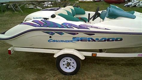 Seadoo Jet Boat Youtube by Sold 1996 Sea Doo Challenger Jet Boat 787 800 Rotax Engine