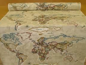 designer fabrics atlas world map antique prestigious designer fabric