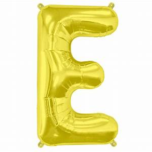 16quot mini letter e gold balloonquot wow let39s party With mini letter balloons