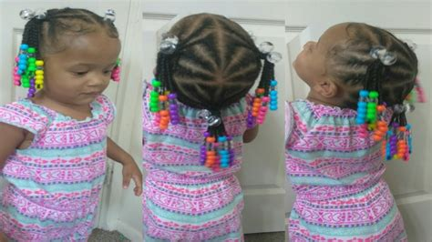Cute Hairstyle For 1 Year Old Toddler|natural Hair| Braids
