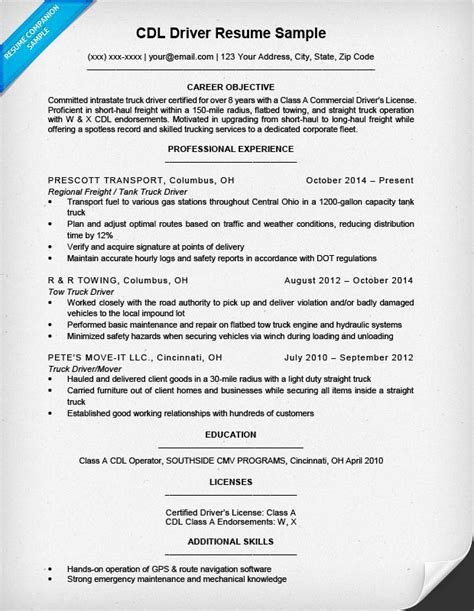 Cdl Resume by Cdl Truck Driver Resumes Tier Brianhenry Co