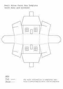 use this free printable template to make a small house With template for small gift box