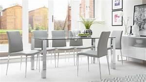 table salle a manger 24 photos invitez verre dans espace With salle À manger contemporaine avec objet deco en verre