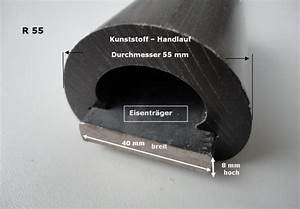 Handlauf Kunststoff Selbstmontage : rundhandlauf r55 40 x 8 khm kunststoff handlauf ~ Watch28wear.com Haus und Dekorationen