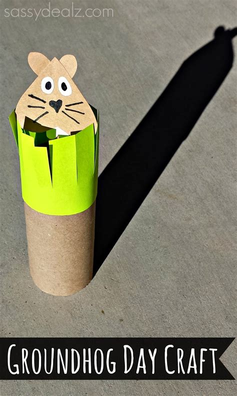 groundhogs day toilet paper roll craft for crafty 677   groundhog day craft toilet paper