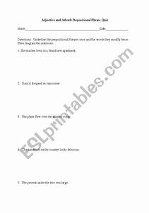 English Worksheets  Diagramming Adjective And Adverb Prepositional Phrases
