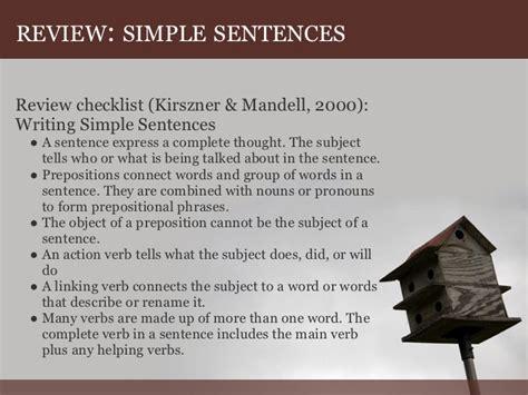 writing simple compoundandcomplexsentence