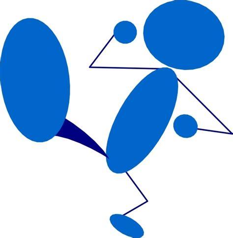 Kick Clipart Blueman Kicking Clip Free Vector In Open Office