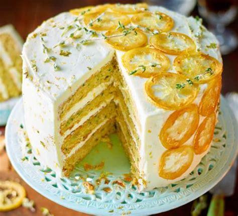 courgette lemon thyme cake recipe bbc good food