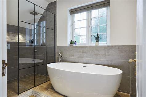 spacious wetroom  bath  thames ditton bathroom eleven