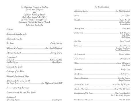 free wedding program templates wedding program templates wedding programs fast
