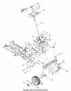 Mtd 13cx614g401  2004  Parts Diagram For Axle  Wheels Front  Steering