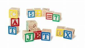 amazoncom melissa doug deluxe wooden abc 123 blocks With letter building blocks