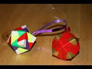 Origami Boule De Noel : origami boule de no l christmas ornament senbazuru youtube ~ Farleysfitness.com Idées de Décoration