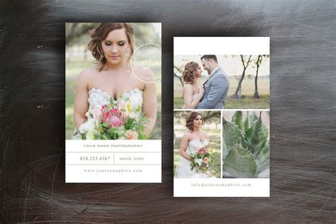 wedding photography business card business card