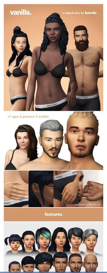 Vanilla Skin A Default Skin By Luumiasims Via Luumiasims