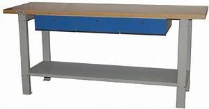 Etabli D Atelier : tabli d 39 atelier bois m tal 3 tiroirs mobilier d 39 atelier ~ Edinachiropracticcenter.com Idées de Décoration