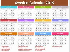 annual Sweden Calendar 2019 printcalendarxyz