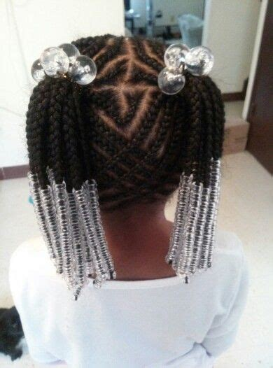 cornrow ponytail style  clear hair accessories kids