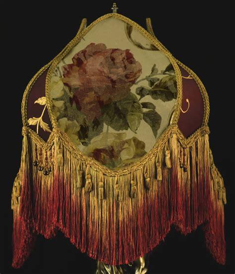 plain jane l shades vintage victorian l shade fringed beaded roses wow ebay