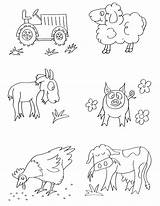 Farm Coloring Animal Printable sketch template