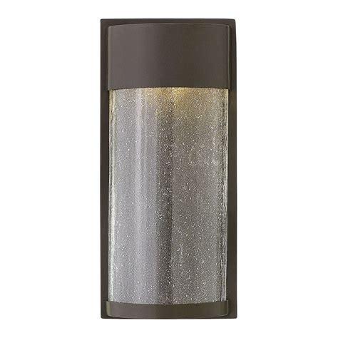 hinkley lighting shelter buckeye bronze led outdoor wall