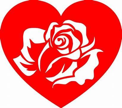 Heart Rose Hearts Clipart Svg Valentines Valentine