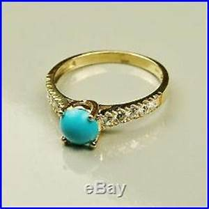 14k solid yellow gold natural sleeping beauty turquoise With sleeping beauty wedding ring