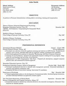 6 professional curriculum vitae format sample budget With curriculum vitae
