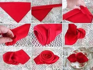Serviette Table Tissu : pliage de serviette en tissu pour noel 12 17 meilleures id233es 224 propos de pliage ~ Teatrodelosmanantiales.com Idées de Décoration
