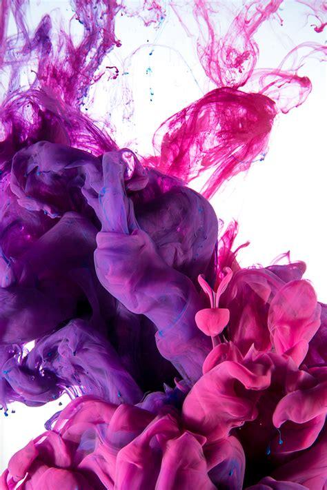 drops  ink magenta invasion  behance