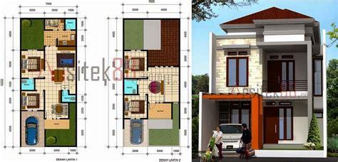 denah rumah minimalis  lantai ukuran  denah rumah