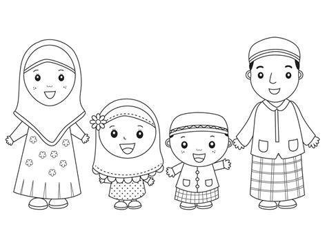 contoh gambar untuk mewarnai anak muslim terbaru