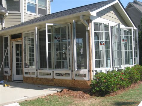 sunroom windows that open casement windows in a sunroom traditional sunroom
