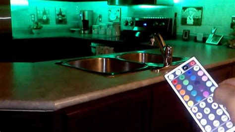 led lighting kitchen cabinets led rgb 5meter strips with 44key remote installed 8954