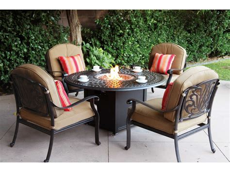 dining table with pit darlee outdoor living series 60 cast aluminum 60