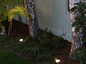 outdoor landscape lighting hgtv With outdoor electrical ground lighting