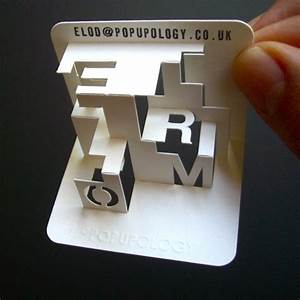 popupology With 3d card letters