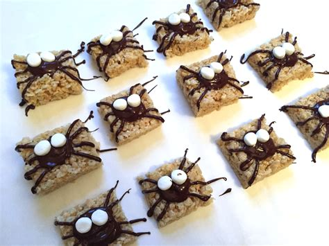 easy treats easy halloween treats spider rice krispie treats