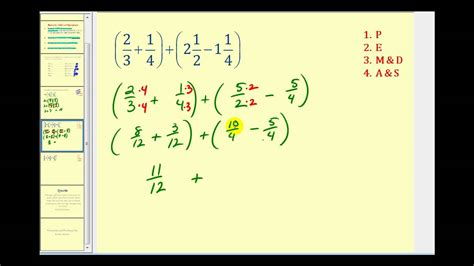 order of operations with fractions worksheets with answers