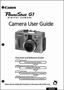 Canon Powershot G1 Digital Camera User Guide Instruction