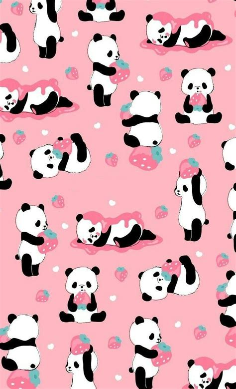 kawaii pink panda wallpapers wallpaper cave