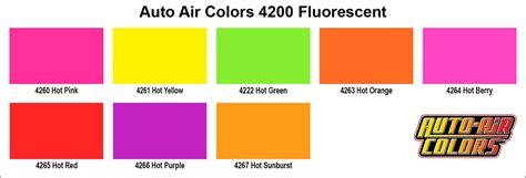 fluorescent colors 4265 fluorescent auto air fluorescent colors