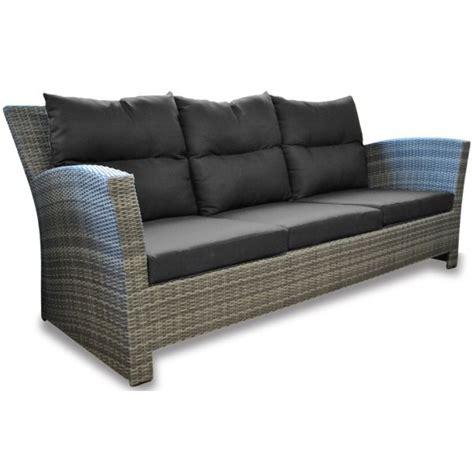 canape en resine tressee canapé seattle 3 places résine tressée gris achat