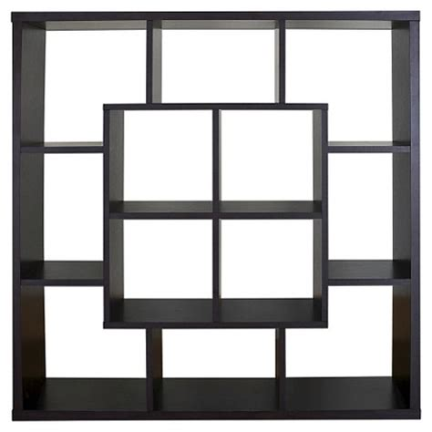 modern room divider bookcase showie modern open square bookcase room divider espresso